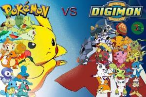 Imagen Pokémon vs Digimon.