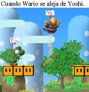 Otra imagen donde aparecen Yoshi y Wario