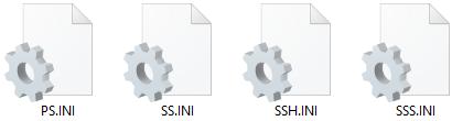 Esto es una imagen sacada de un recorte, mostrando los iconos de los cuatro archivos con sus nombres y extensiones.