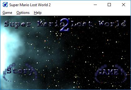 Esto es una imagen de captura de pantalla, mostrando la pantalla de título del videojuego