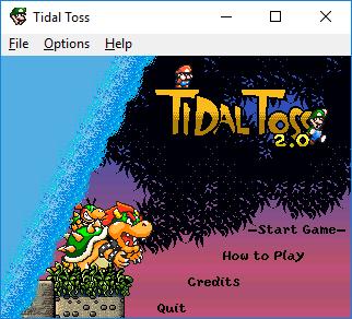 Esto es una imagen de captura de pantalla, mostrando la pantalla de título del videojuego, con los personajes: Bowser, Bowser Junior, Luigi, Mario.