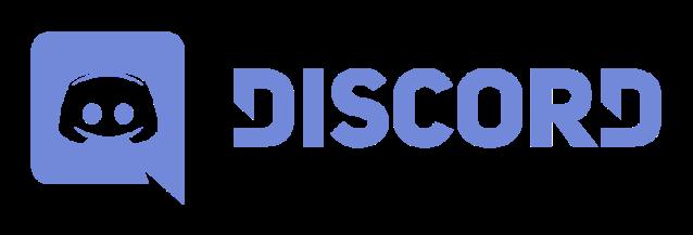 Esto es un logo de Discord con color azul.
