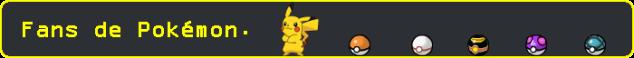 Esto es una imagen con el texto: Fans de Pokémon.