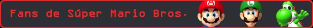 Esto es una imagen con el texto: Fans de Súper Mario Bros.