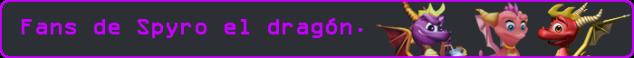 Esto es una imagen con el texto: Fans de Spyro el dragón.